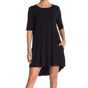 Philosophy Elbow Sleeve Knit Swing Dress - Black